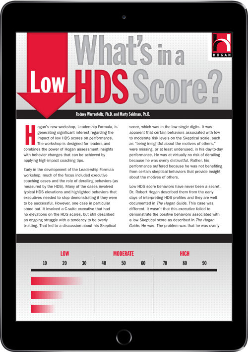 What's in a low HDS score?