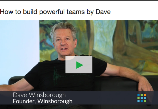Dave Winsborough video on powerful teams